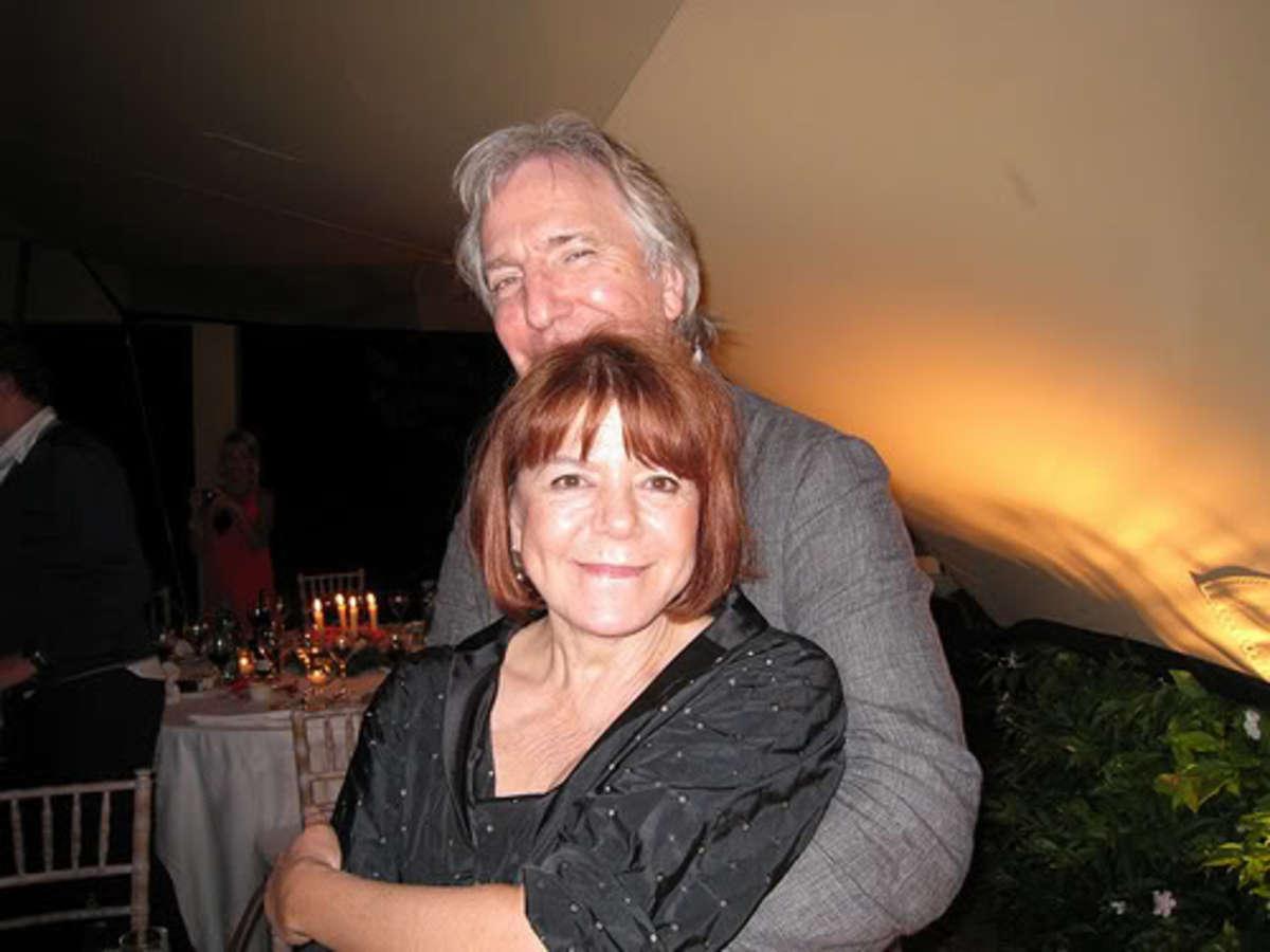 Rima Horton and Alan Rickman.