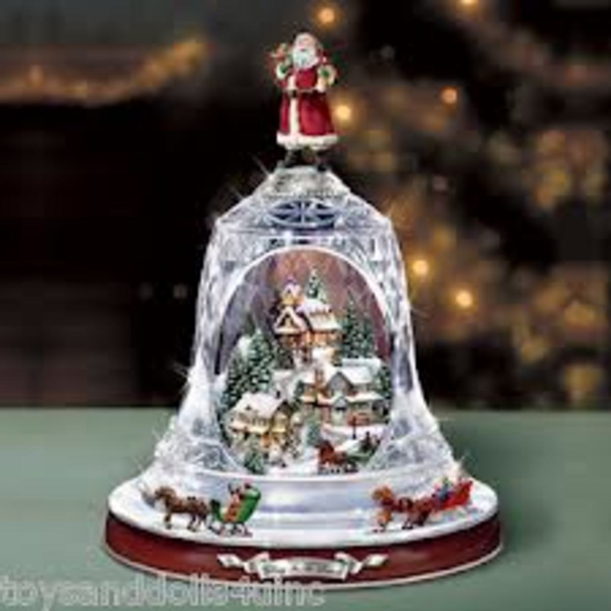 The crystal Christmas bell