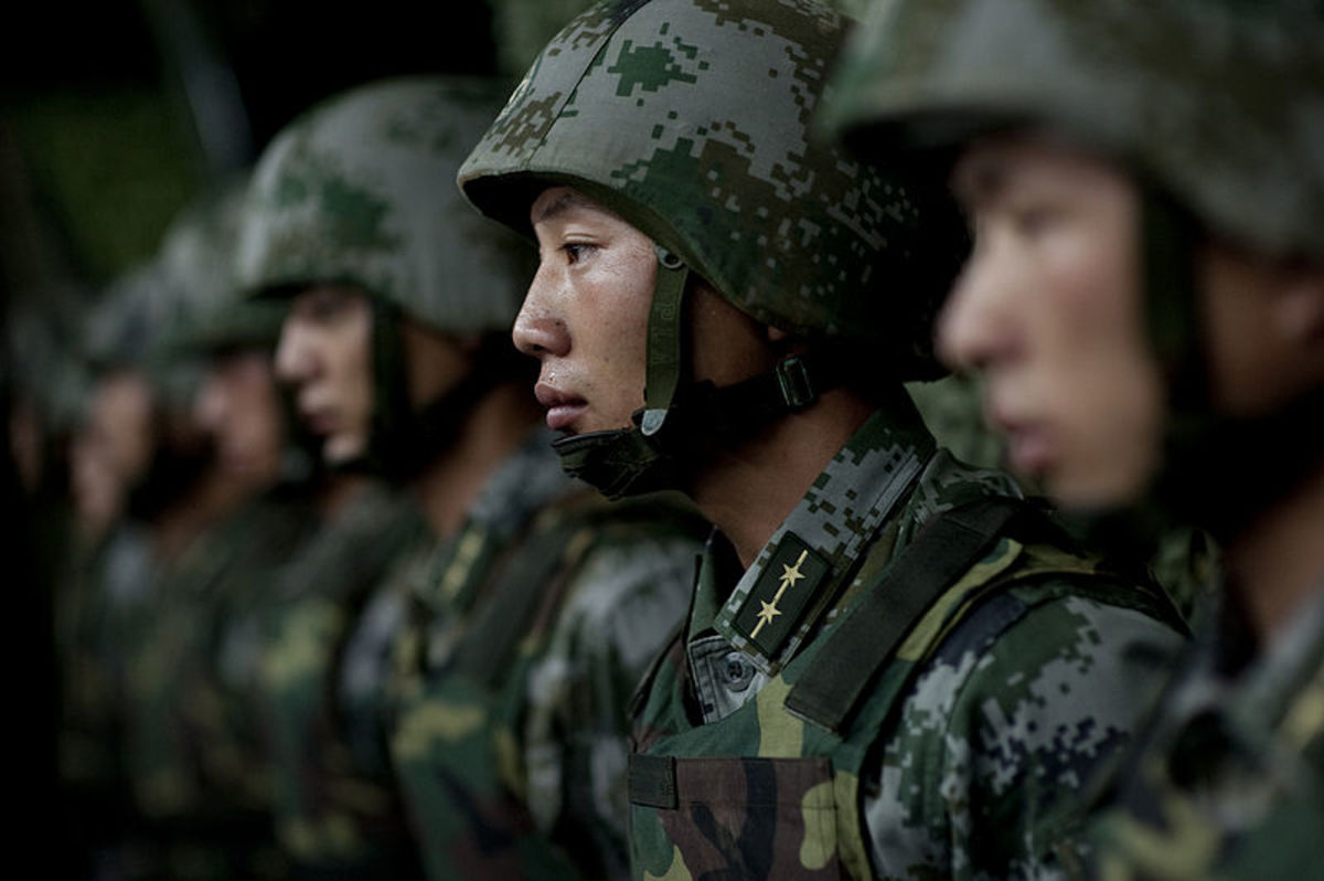 Soldiers of the PLA from 2011.