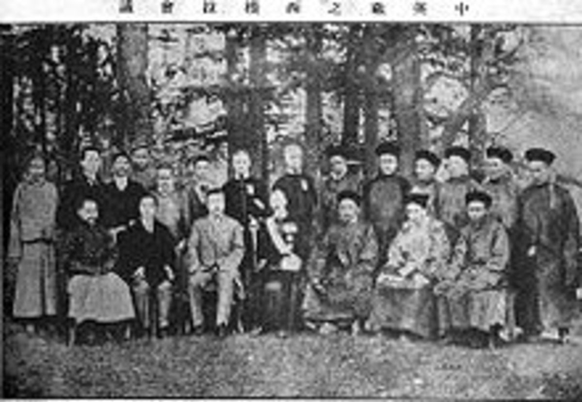 All parties and representatives at the 1914 Simla Convention, prior to China's withdraw.
