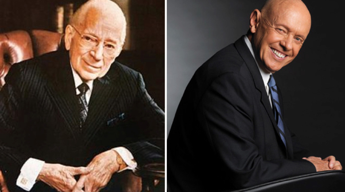 Entrepreneur, businessman, religious leader, and world traveler Herbert W. Armstrong (left/white hair) as well as motivational writer and speaker Stephen R. Covey (right/bald head) have both summed up the journey to true success in seven points.