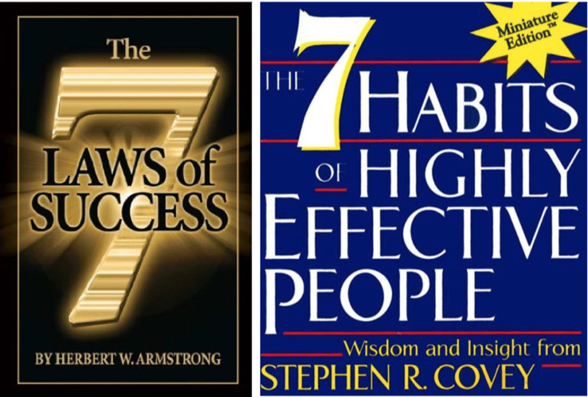 Herbert W. Armstrong and Stephen R. Covey have both summed up the journey to success in seven points.