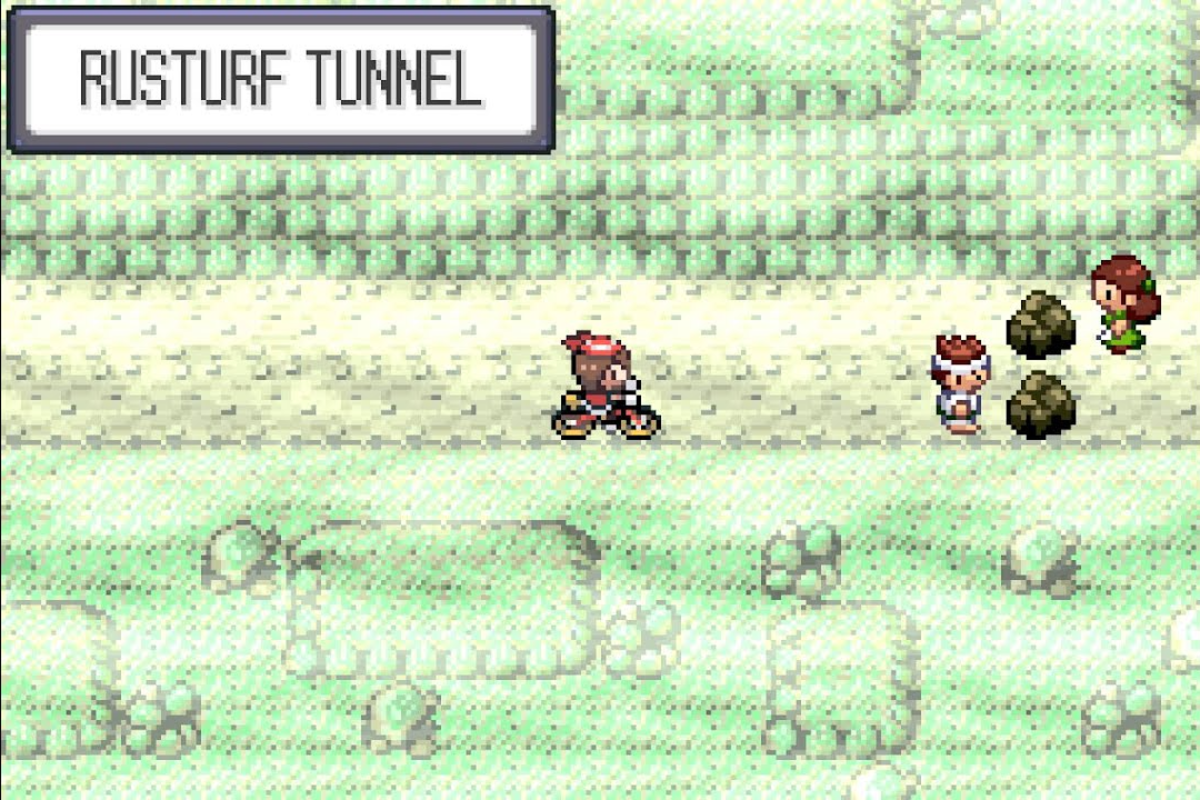 "The Hidden Machine ""Rock Smash"" is necessary to open up this tunnel. It is a very unpopular HM."