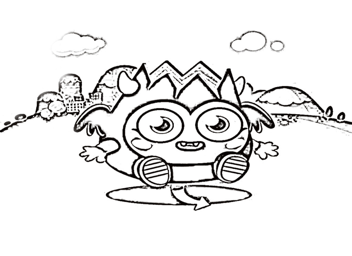 more fun with moshi monster coloring pages