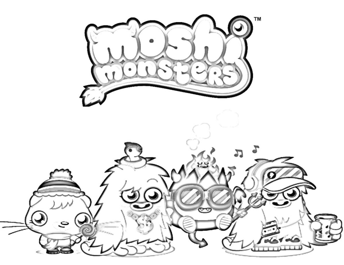 moshi monster coloring pages click thumbnail to view full size - Baby Moshi Monsters Coloring Pages