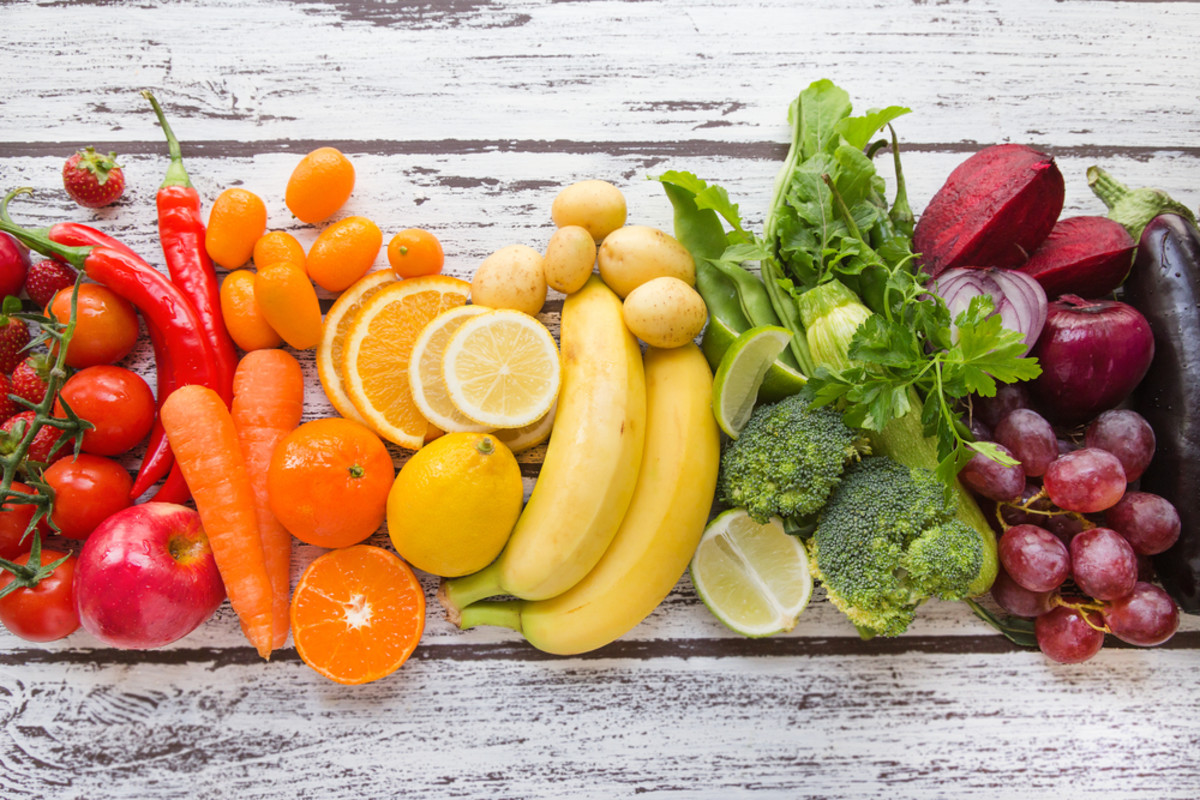 Various types of fruits & vegetables