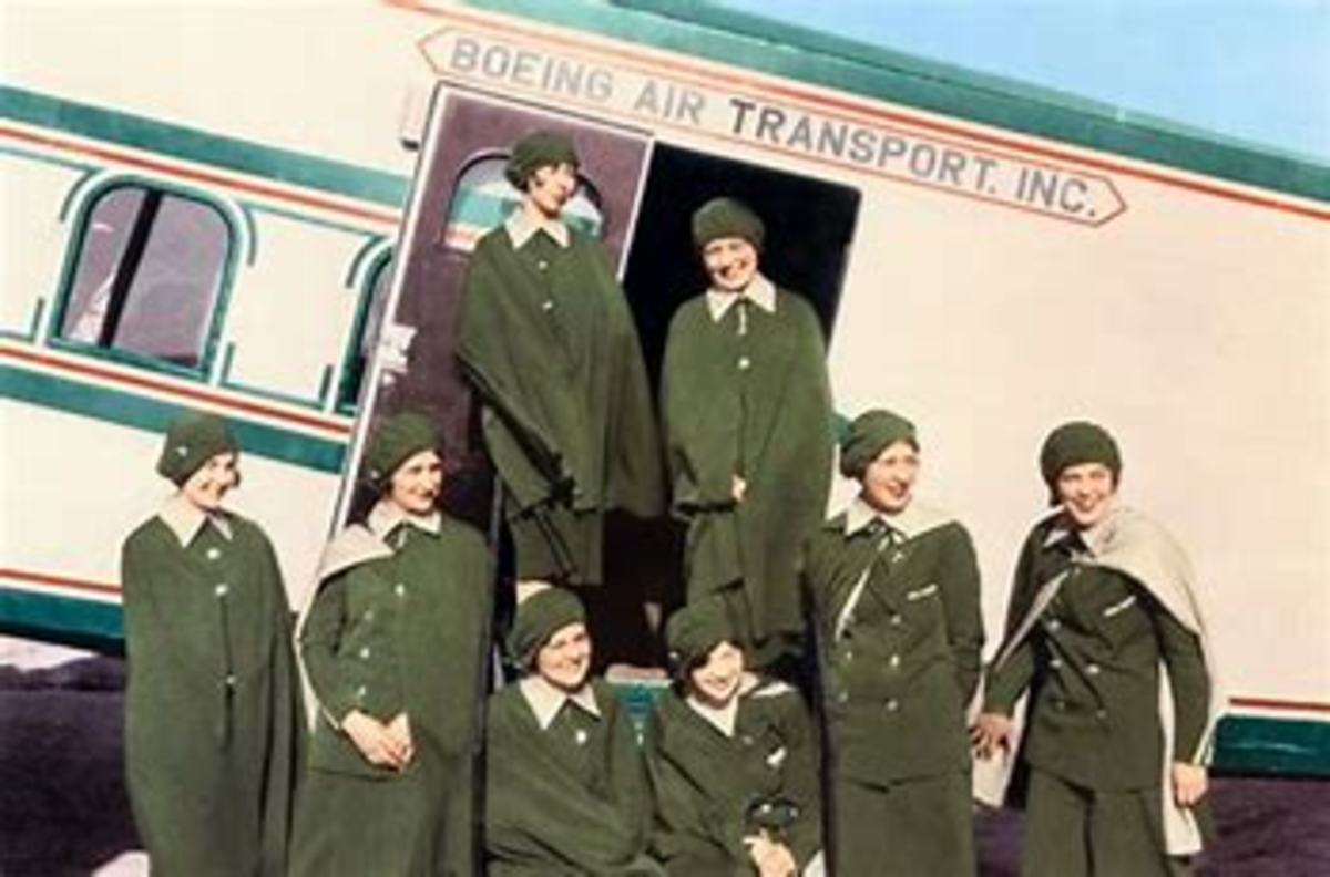 First Stewardesses chosen by Boeing  Air Transport