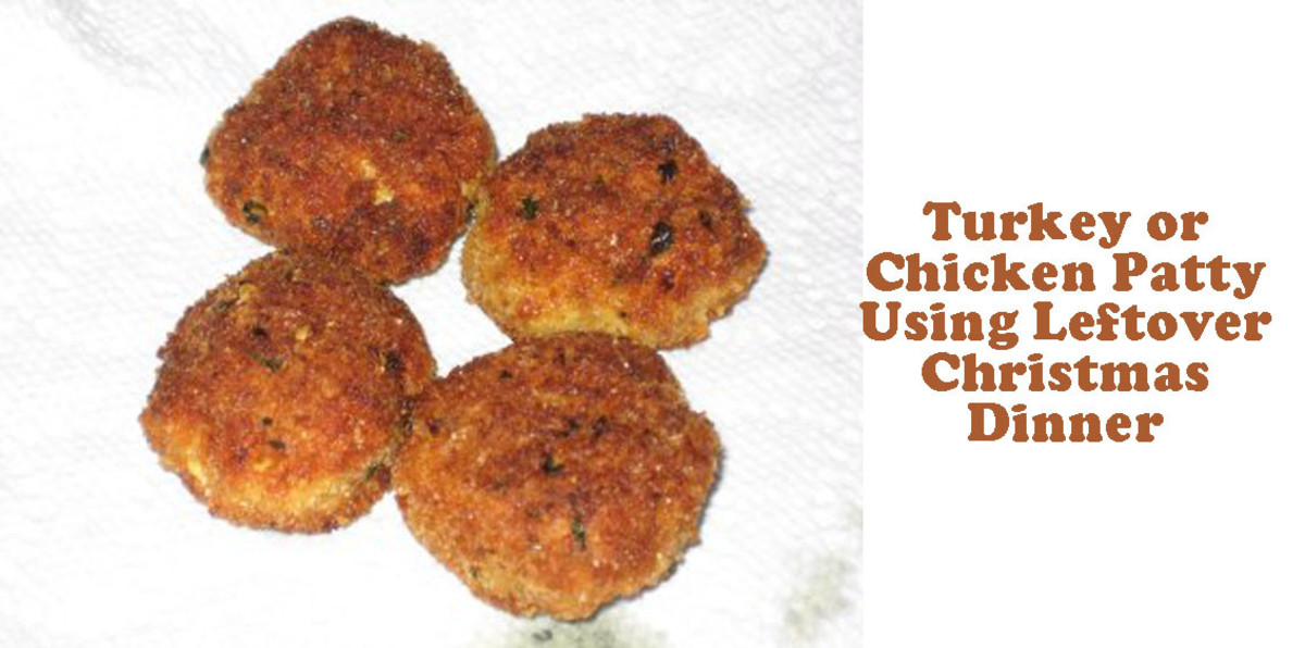 Chicken or Turkey Patties Using Christmas Dinner Leftovers: Quick Easy Recipe