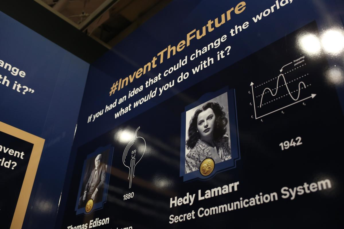 Hedy Lamarr display at the Inventors Hall of Fame