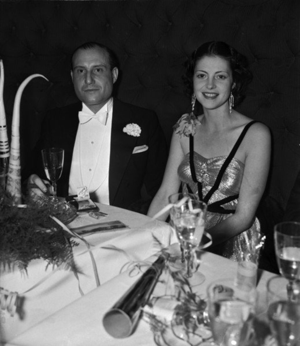 Hedy Lamarr and Friedrich Mandl