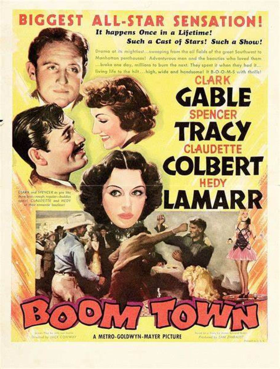 "Poster for movie ""Boom Town"""