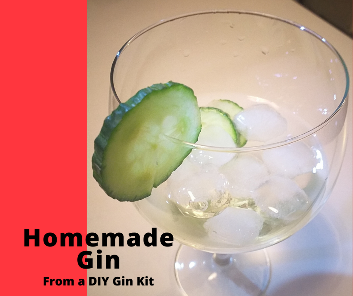 Making gin at home from a gin kit.