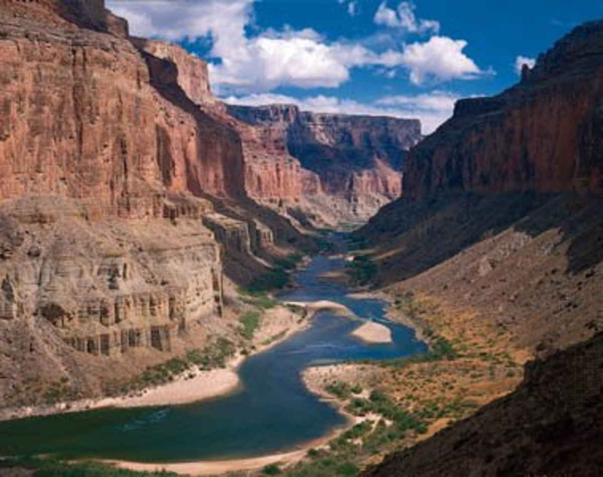 The Colorado River in Marble Canyon at the Grand Canyon National Park, Arizona