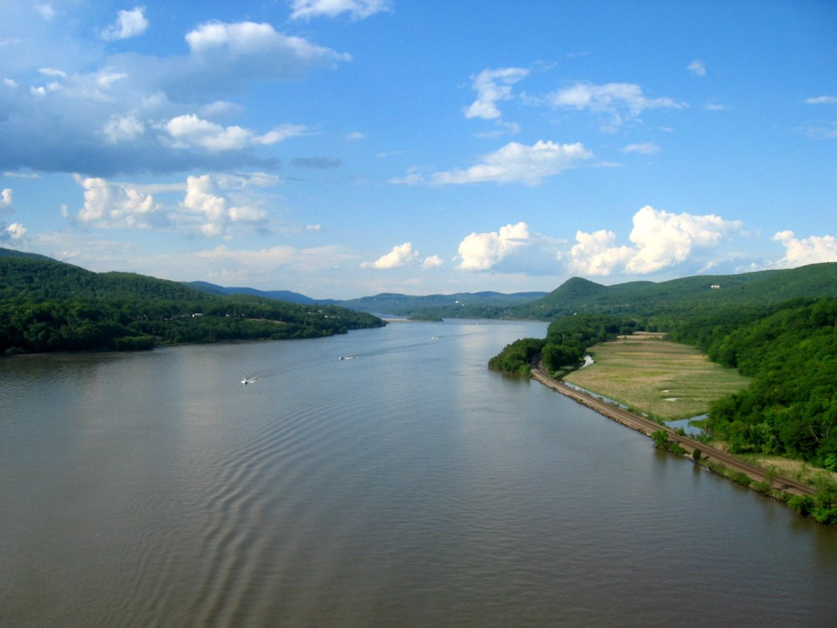 The Hudson River from the Bear Mountain bridge, New York