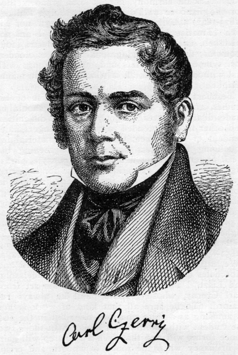 Carl Czerny is an important figure in the development of piano technique and dexterity.  Czerny studied with Beethoven and consequently taught the young Franz Liszt