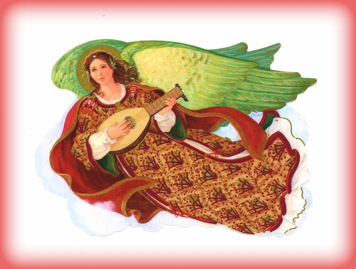 Robert Haas, Holiday Traditions Red and Green Angel in a Hallmark Christmas Card Series