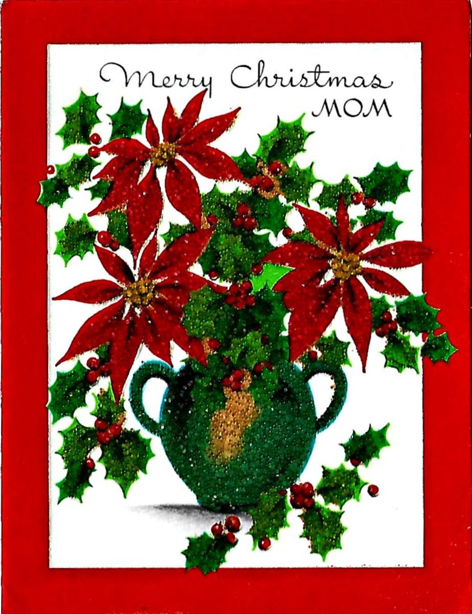 Merrry Christmas Mom, Early 1950s Christmas Card
