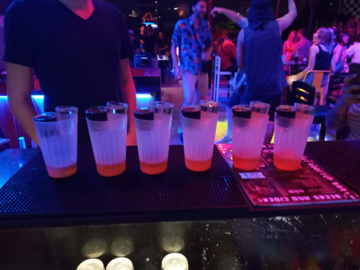 6 Hand Grenade shots (tequila and a jaeger bomb). The party scene in Saigon is incredibly fun, but awful for your liver