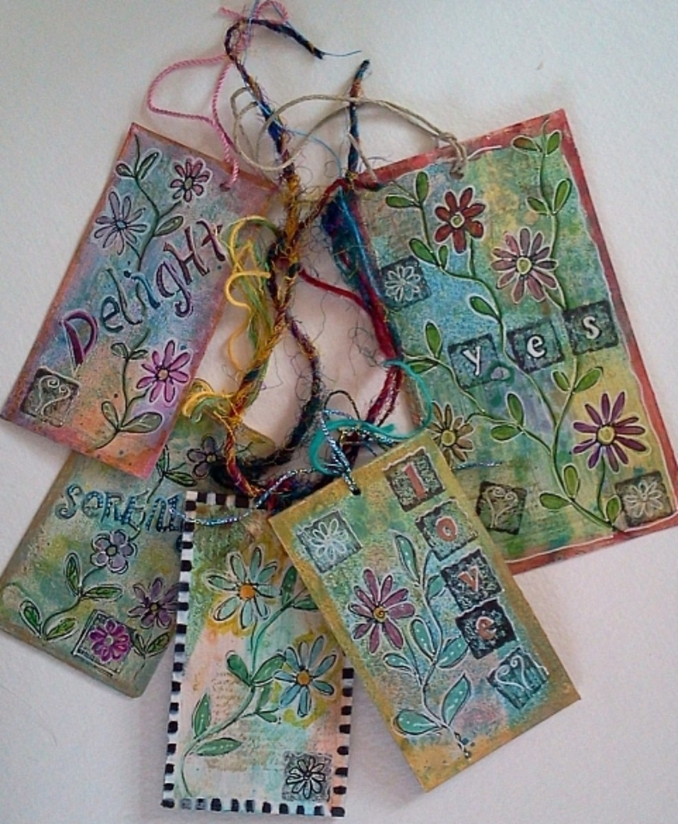 How to Make Tiny Art Tags (Mixed Media Techniques)