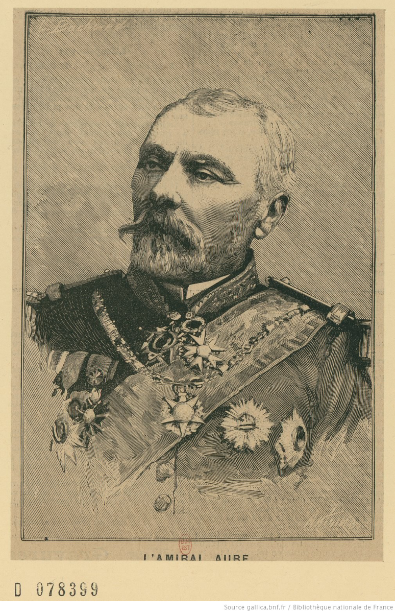 Théophile Aube, a French admiral and one of the most important thinkers behind the development of the Jeune école.