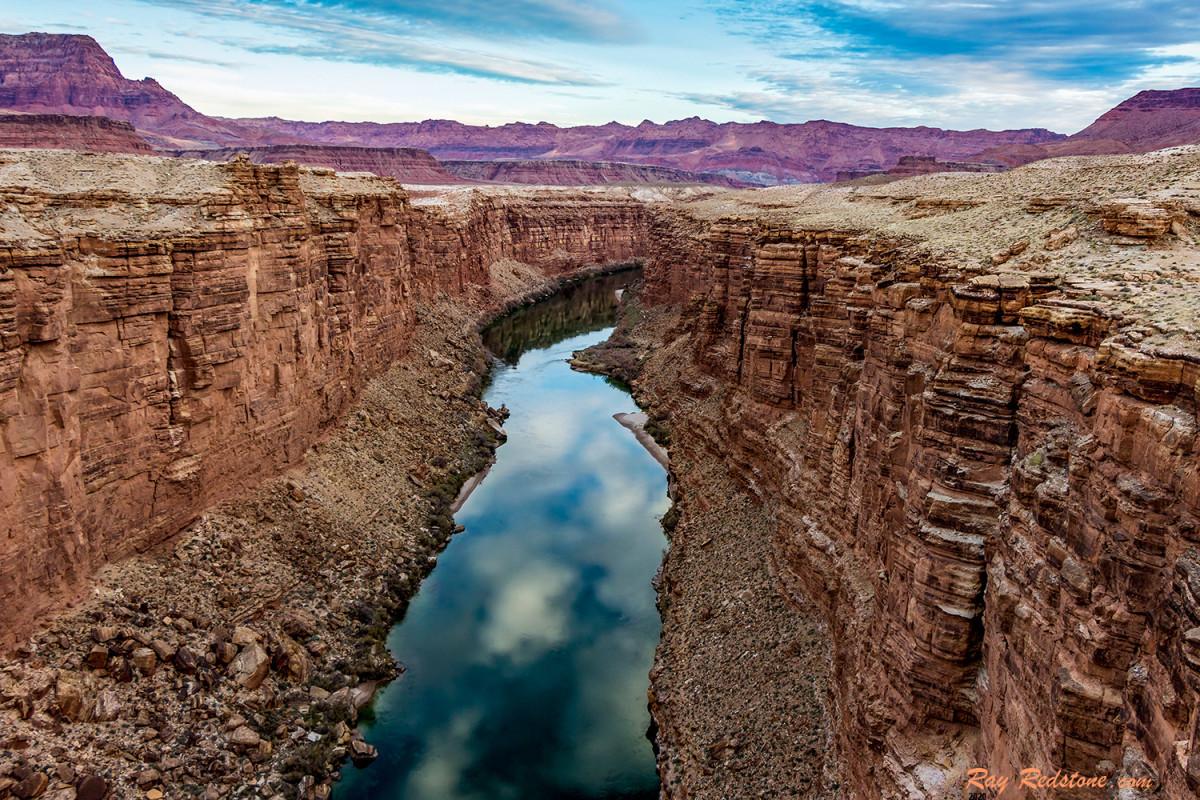 Colorado River view from Navajo bridge near Lees Ferry,