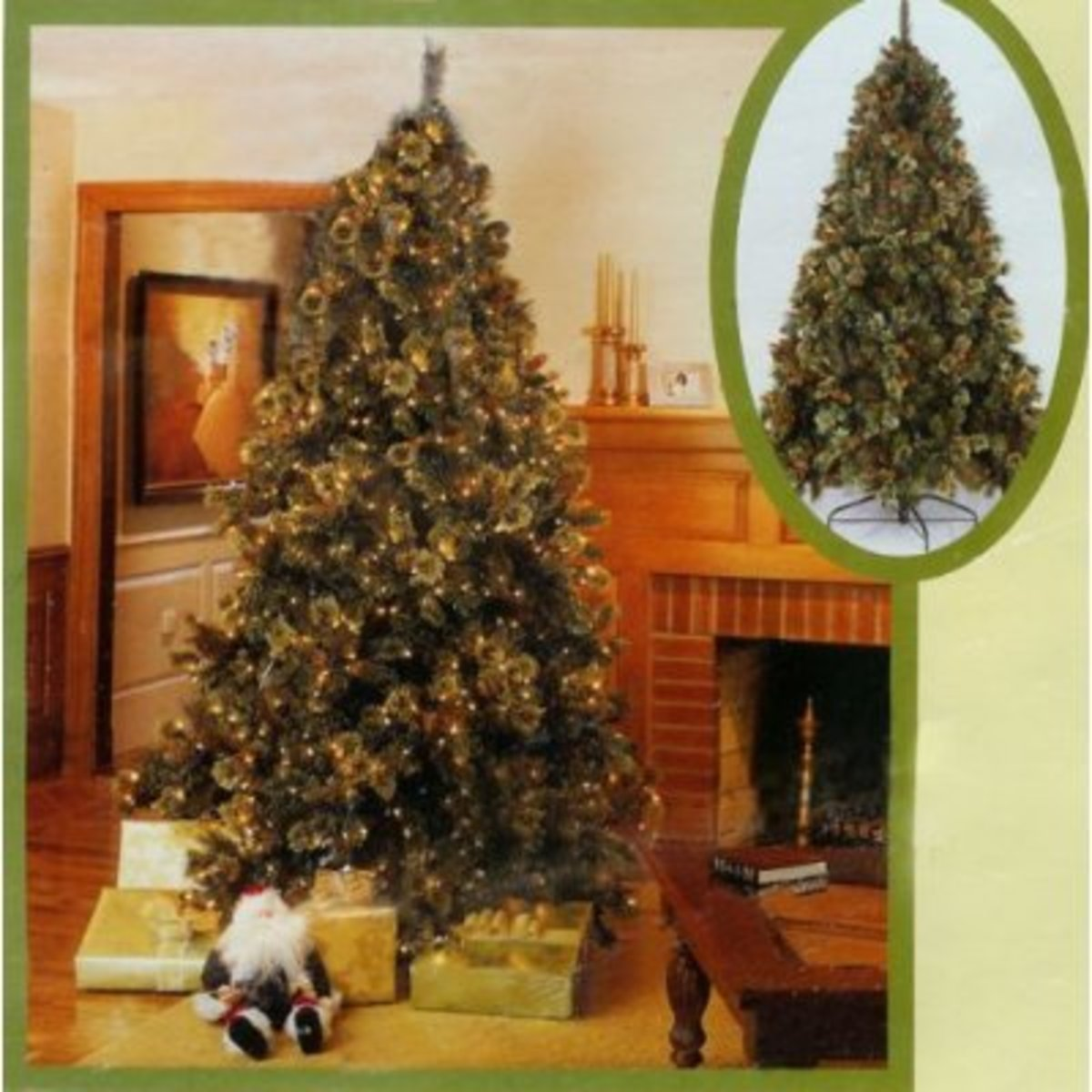 Artificial pre lit Christmas trees come in many sizes.