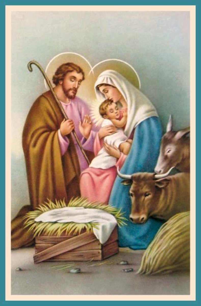usual image of birth of Christ.