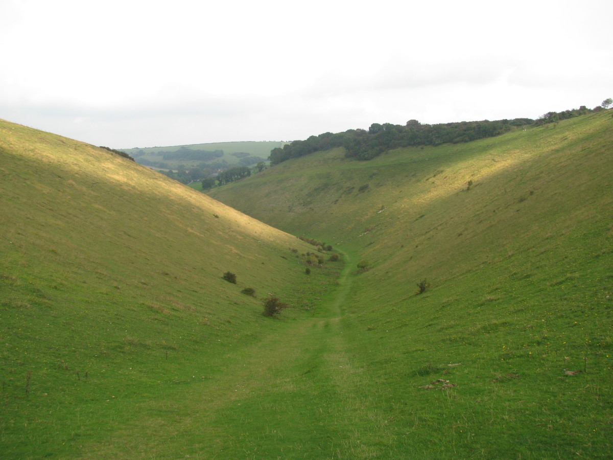 Inside the Downs, at Devil's Dyke, almost cutting through from the Weald to the coast