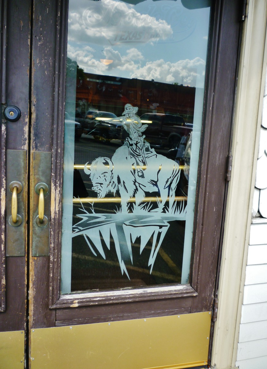Goode Co. etched glass doors