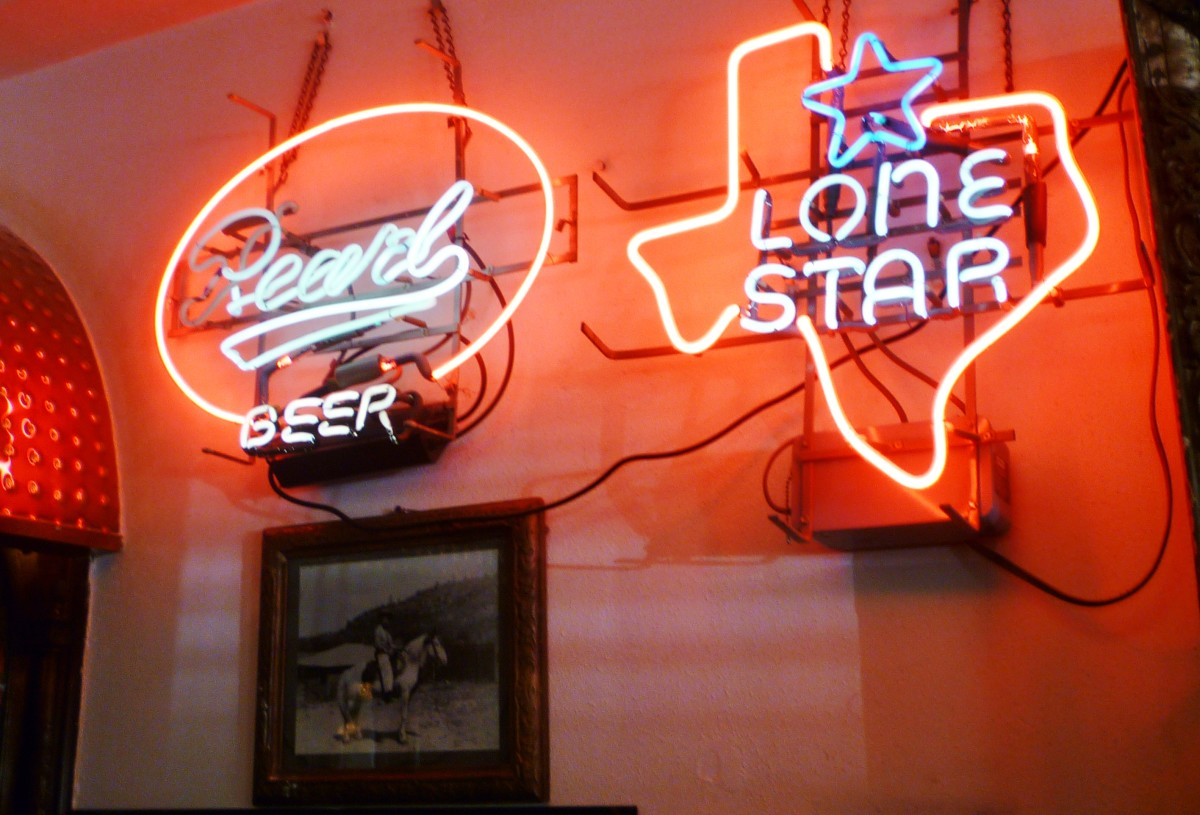 Old neon beer signs