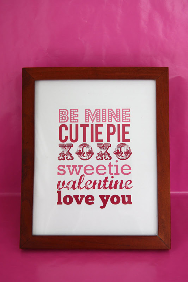 Printable Valentine Poster
