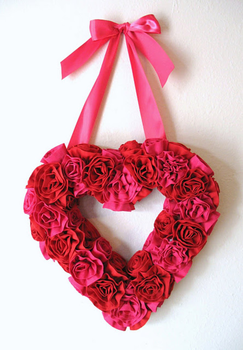 heart rose wreath