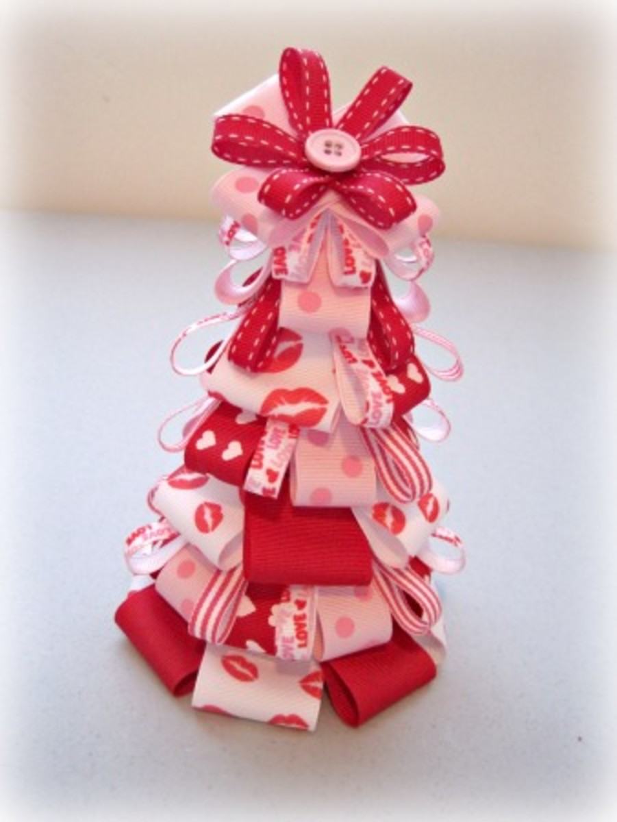 Valentine's Day ribbon tree