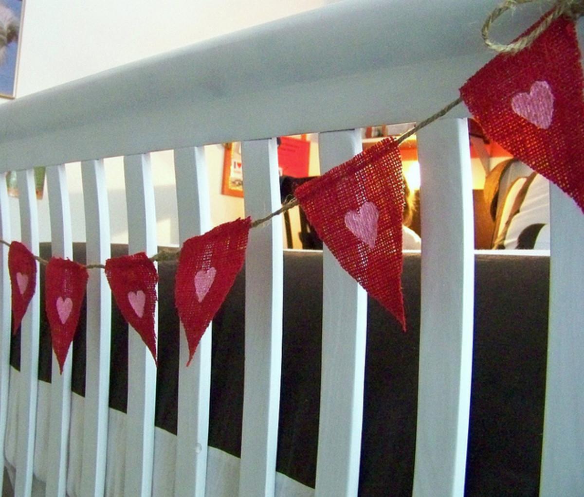 Burlap Valentine Banner