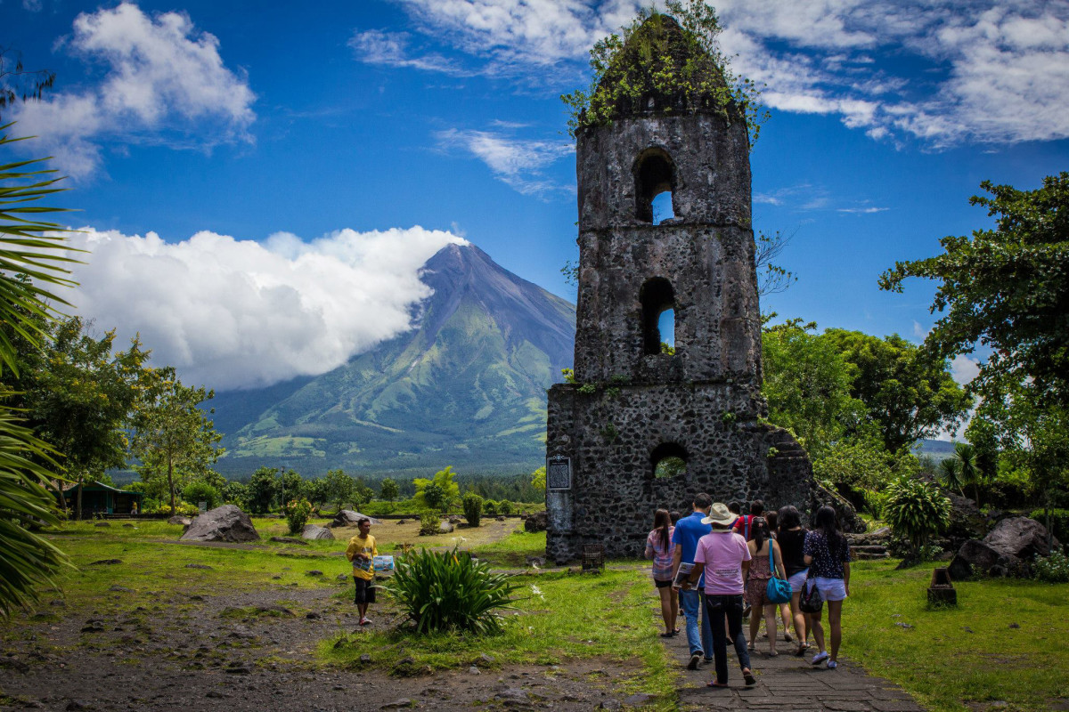 Cagsawa Ruins: the only thing that was left after the Mayon Volcano eruption
