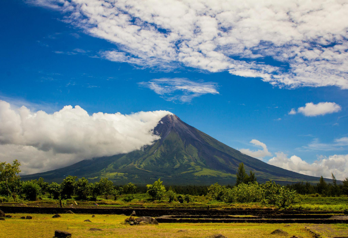 Exhilarating View of Mt. Mayon from Cagsawa Ruins