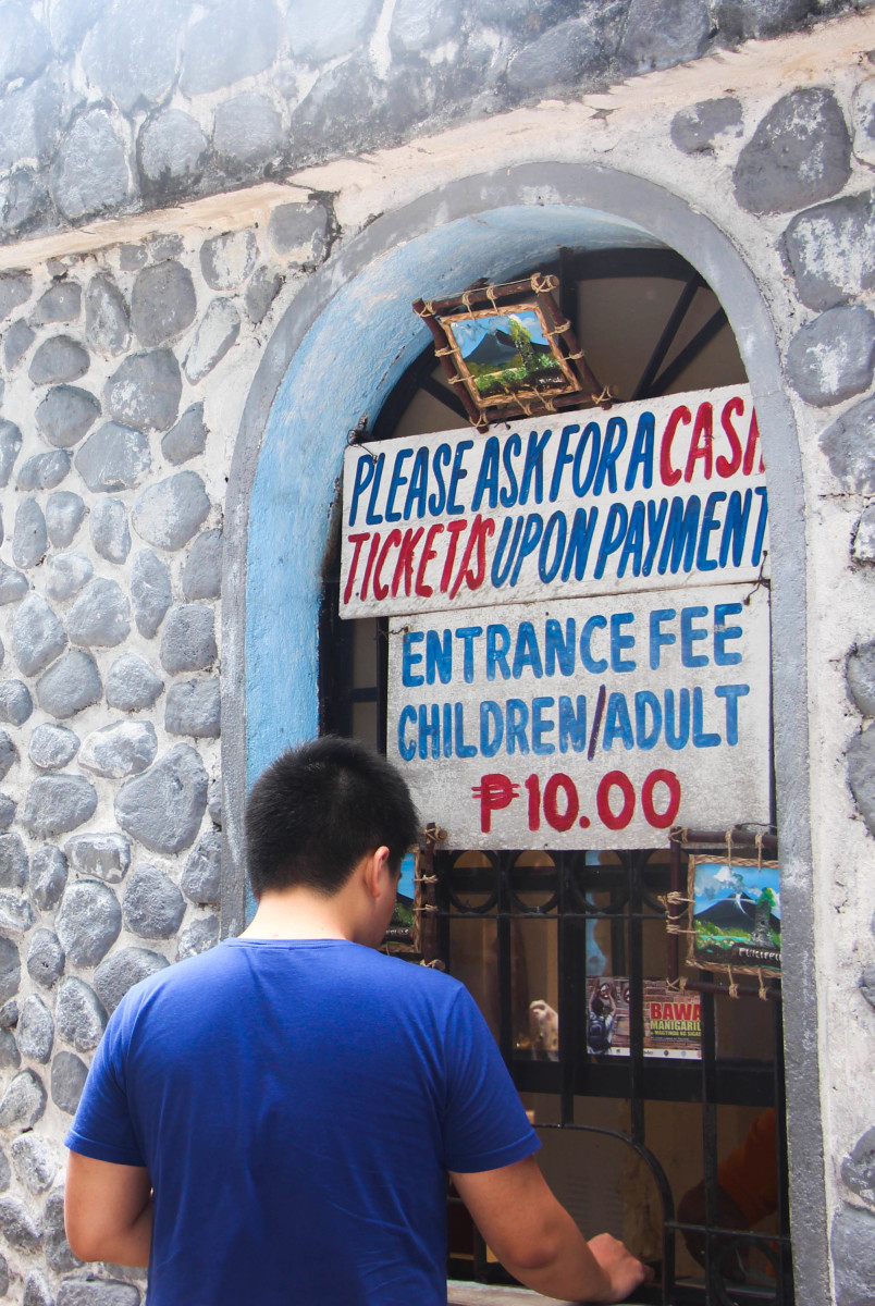 Entrance Fee in Cagsawa Ruins