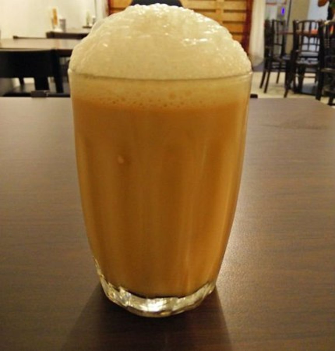 a cup of teh tarik, also known as Malaysia's national drink!