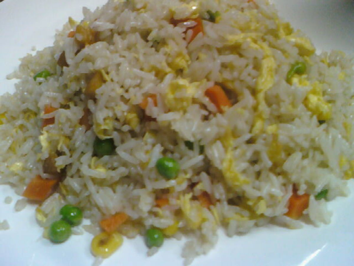 A Plate of Chinese Styled Fried Rice