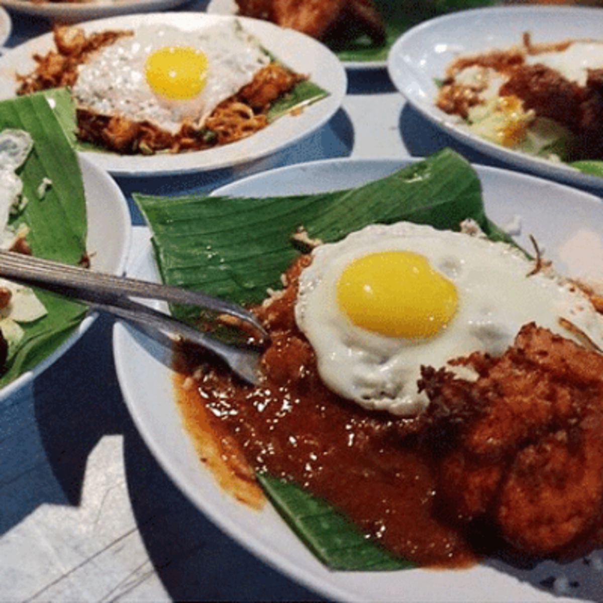 "Nasi Lemak from a famous stall called ""Bumbung""."