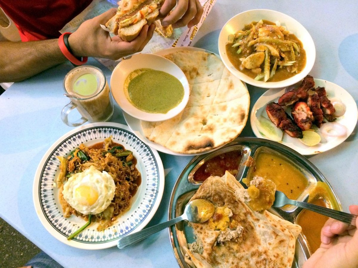 Picture of the food of a Mamak