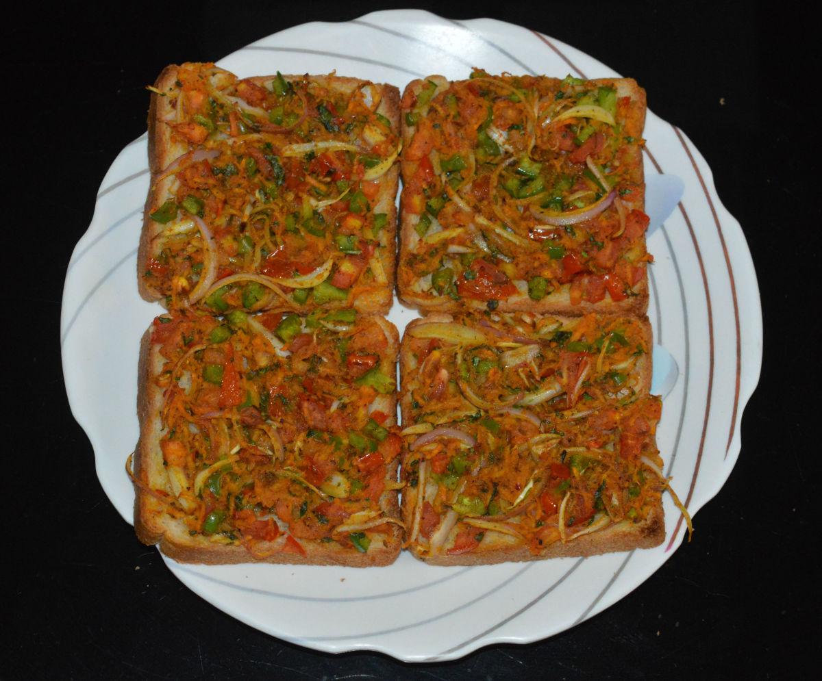 Bakery-Style Masala Bread Toast