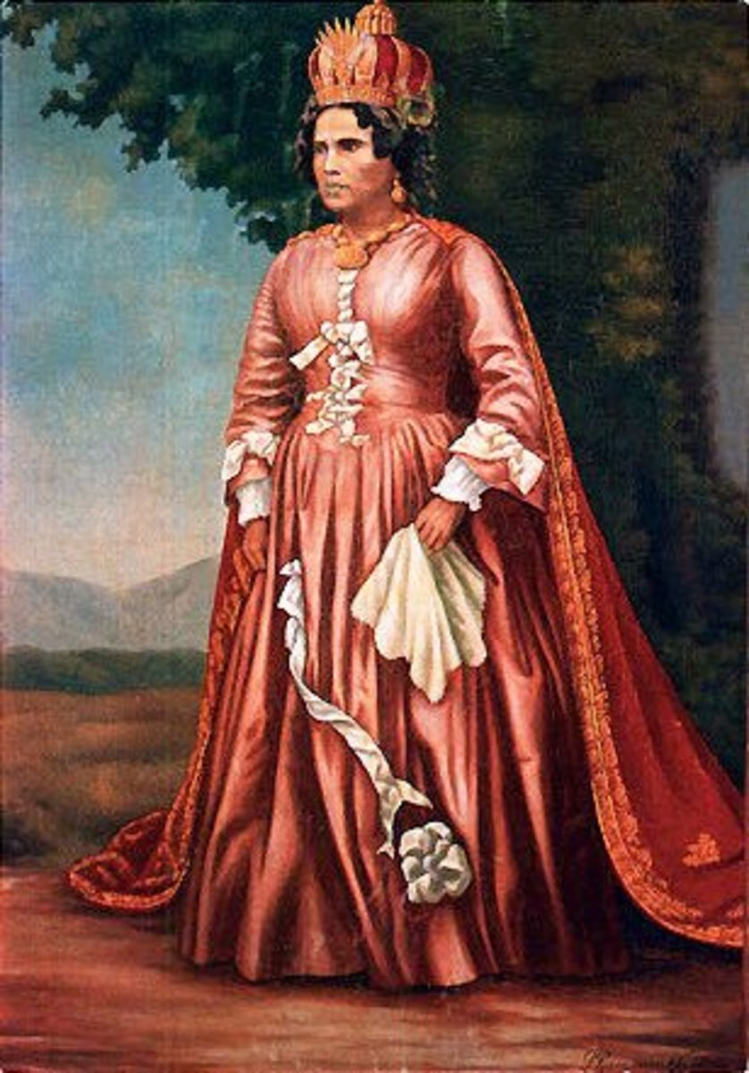Queen Ranavalona I. While promoting traditional culture she favoured European fashion.