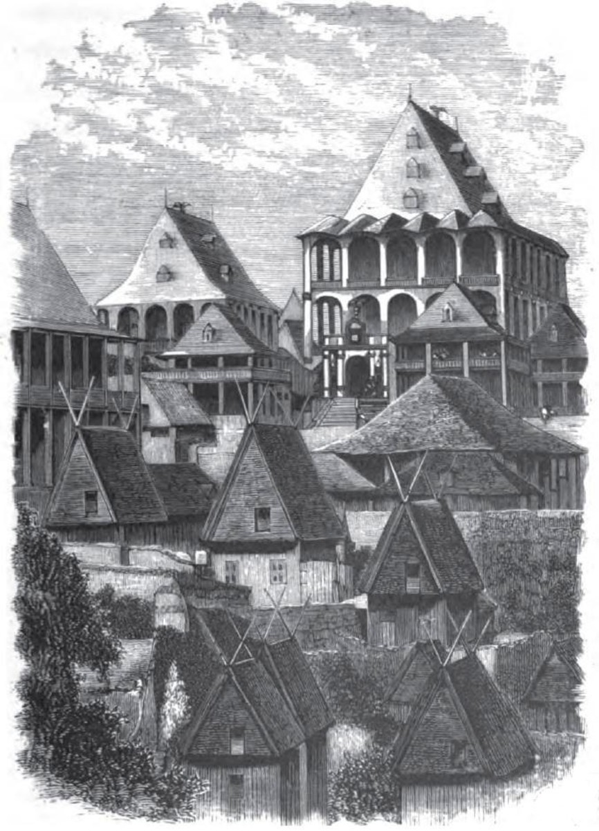 The wooden palace built to Ranavalona's orders.