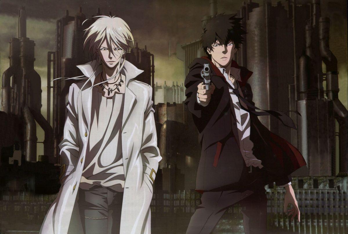 Shogo Makishima and Shinya Kogami in Psycho Pass
