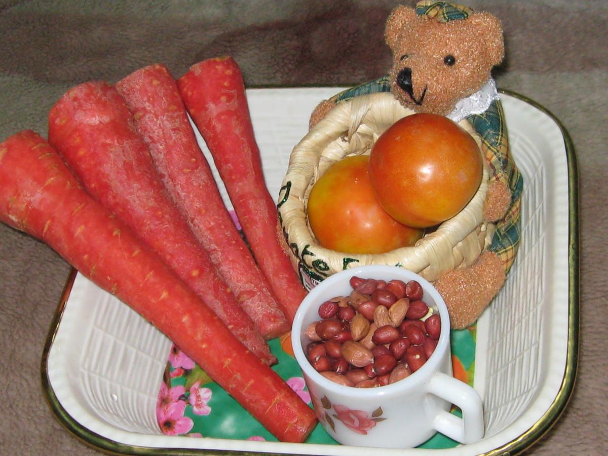 Ingredients for Carrot Desert