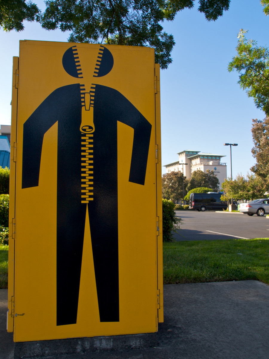 Public art project by Oakland artist Seyed Alavi. Alavi collaborated with Emeryville secondary school students to conceptualize these designs which now appear on some of Emeryville's traffic signal boxes.