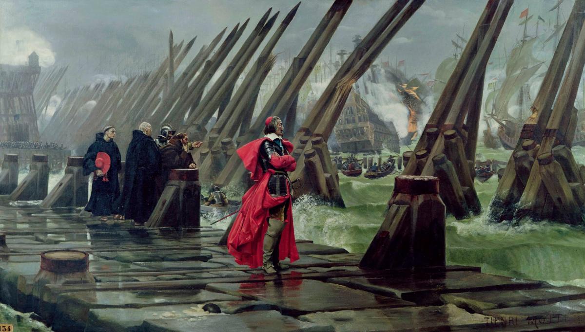 The famous portrait of Richelieu at the siege of La Rochelle
