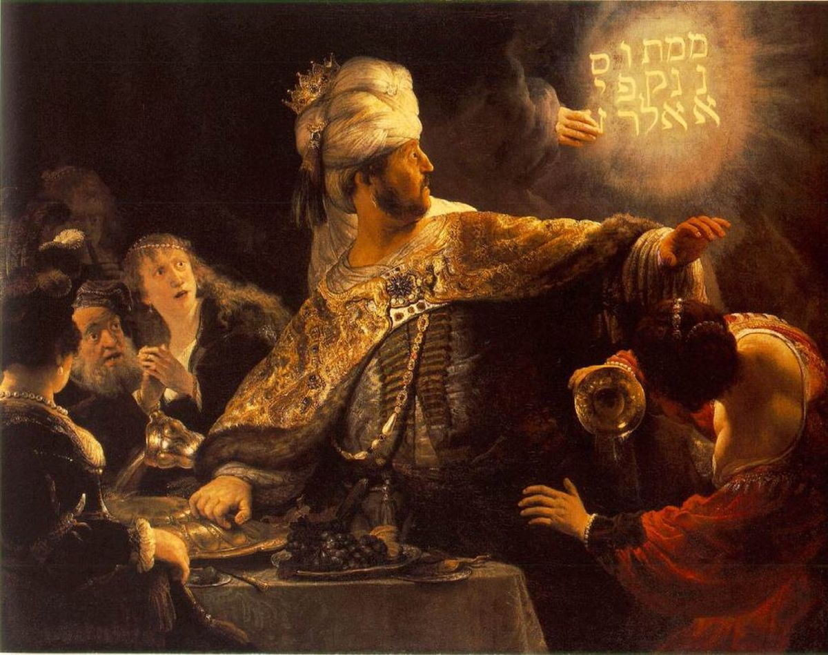 The last Babylonian king Belshazzar had seen brighter days