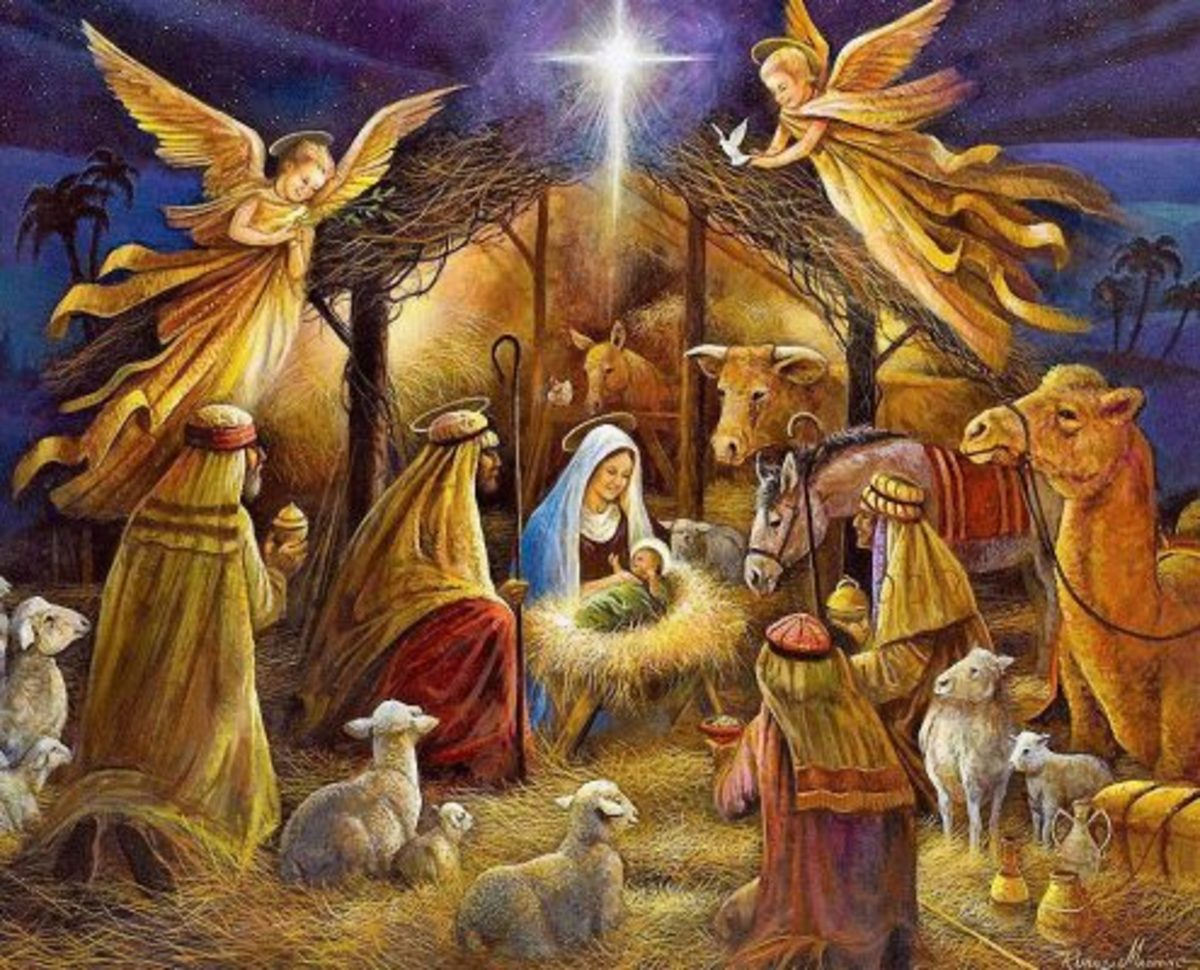 An angel appeared in the sky announcing the birth of the Savior and describing where He would be—the city of David.